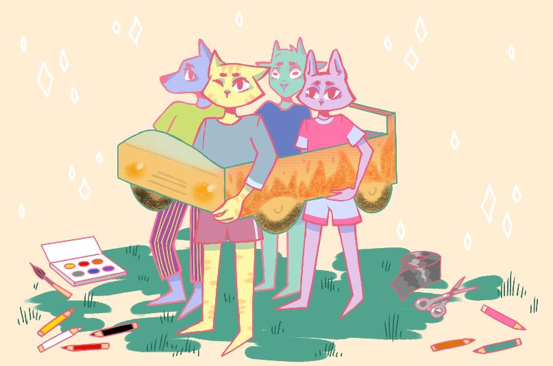 авторалли игра по станциям в лагере